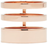 Repossi Rose Gold Triple Band Berbere Ring