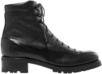 Rupert Sanderson Sherwood Rubber And Leather Ankle Boots