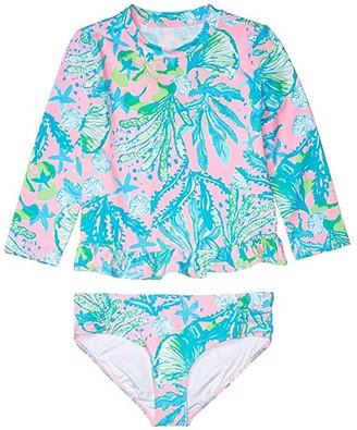 Lilly Pulitzer Retreat UPF 50+ Rashguard (Toddler/Little Kids/Big Kids) (Mandevilla Baby Hip Nautic) Girl's Swimwear