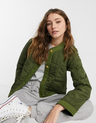 Maison Scotch reversible quilted liner jacket