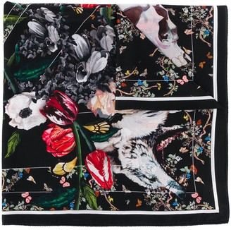 Zadig & Voltaire Lotty floral print silk scarf