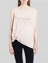 Calvin Klein Ombre Flocked Logo Tie Tank Top