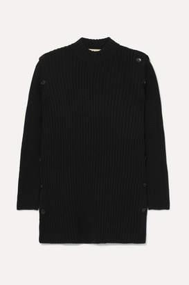 Marni Convertible Ribbed Wool Sweater - Black