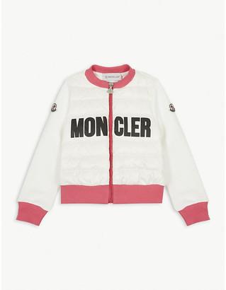 Moncler Logo padded down sweatshirt 4-14 years