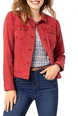 Liverpool Los Angeles Denim Jacket in Terra Roug