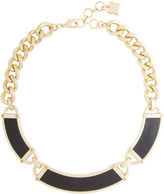 BCBGMAXAZRIA Faux-Leather Plate Necklace