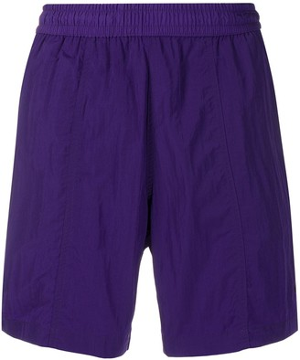AMI Paris Elastic Waist Long Swim Shorts