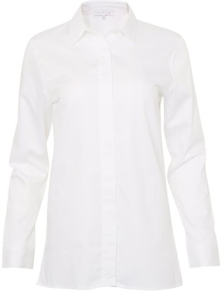 Silver Pink Classic White Shirt