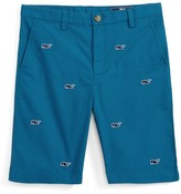 Vineyard Vines Boy's Breaker Whale Embroidered Shorts