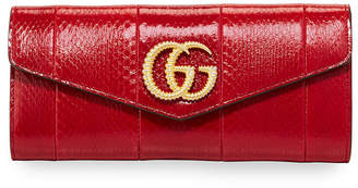 Gucci Broadway Medium Snakeskin Evening Clutch Bag