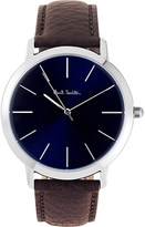 Paul Smith P10091 MA stainless steel and leather watch
