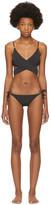 Stella McCartney Black Timeless Basics Wrap Bikini