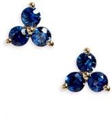 Ef Collection Women's Trio Precious Stone Stud Earrings