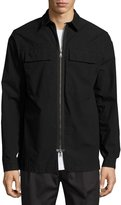 Helmut Lang Zip-Front Shirt Jacket, Black