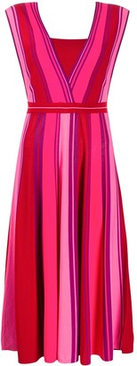 Pinko Striped Knitted Dress