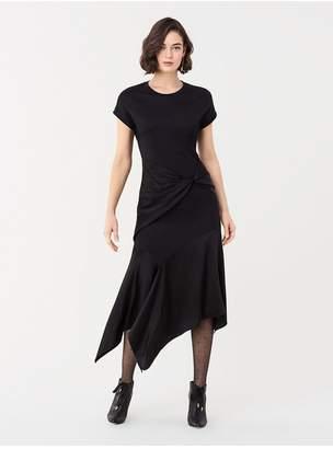 Diane von Furstenberg Giovanna Wool-Blend Asymmetrical Midi Dress