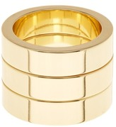 Ariella Collection Shiny Finish Metal Stack Ring Set - Set of 3
