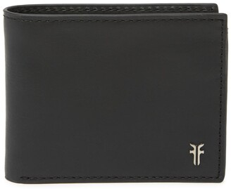Frye Metal Logo Leather Bifold Wallet