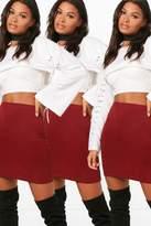boohoo Bella 3 Pack Basic Jersey Mini Skirt