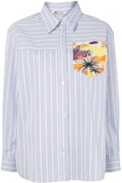 Ports 1961 pinstriped patch-pocket shirt