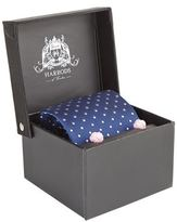 Harrods Of London Woven Dot Tie And Cufflinks Set