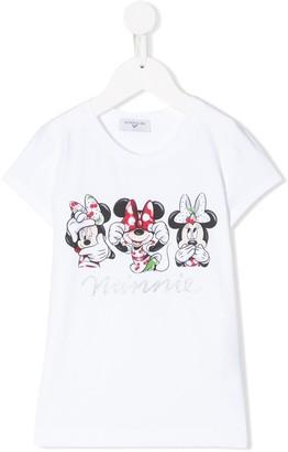 MonnaLisa Minnie Mouse crew neck T-shirt