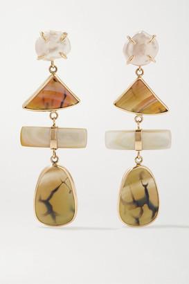 Melissa Joy Manning + Net Sustain 14-karat Gold Multi-stone Earrings - one size