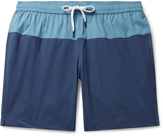 Onia Charles Long-Length Colour-Block Swim Shorts