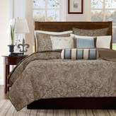 E and E Co., LTD. Madison Park Aubrey Blue 6-Piece Quilted Coverlet Set - King/California King