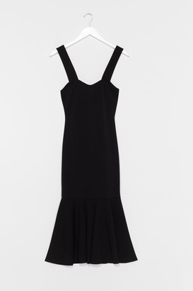 Nasty Gal Womens Pep in Your Step Sweetheart Maxi Dress - Black