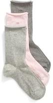 Calvin Klein Roll Top Crew Socks (3-Pack)