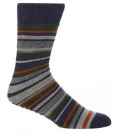 Totes Multi-coloured Striped Print Slipper Socks