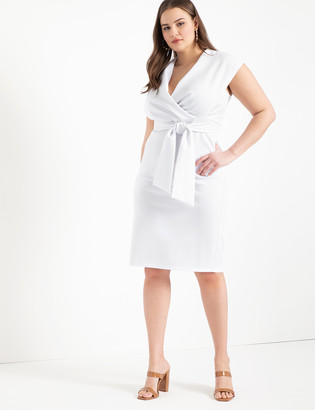 ELOQUII Belted Wrap Dress