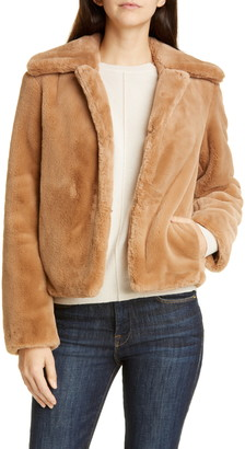 Theory Faux Rabbit Fur Jacket
