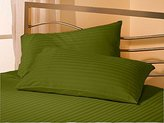 Scala Hotel Collection 500 Thread Count 100% Egyptian Cotton Pillowcases Stripe Standard Moss