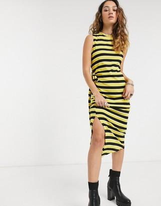 Cheap Monday organic cotton stripe tank dress-Black