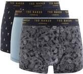 Ted Baker Underwear Triple Pack Boxer Trunks Navy