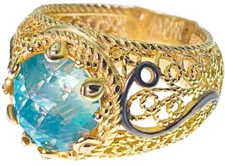 Artisan Crafted 18K Gold Plated Sterling Filigree Ring