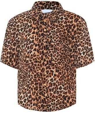 Nanushka Clare leopard-printed shirt