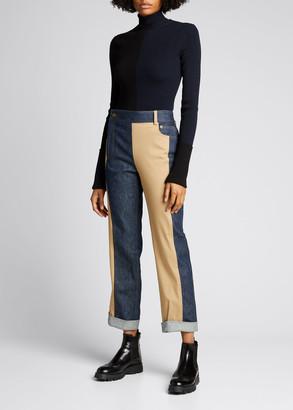 Monse Denim & Trouser Combo Pants