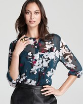 DKNY Maggie Floral Printed Blouse