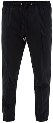 Dolce & Gabbana Front-seam Jersey Track Pants - Mens - Navy