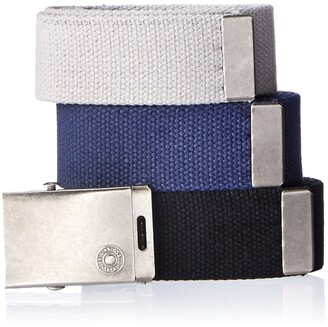 Levi's Men's Cut To Fit 3 Pack Web Belt With Buckle