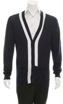 Bottega Veneta Stripe-Accented V-Neck Cardigan w/ Tags