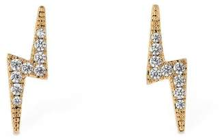 FEDERICA TOSI Mini Lobo Flash Earrings W/ Crystals
