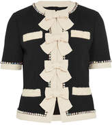 Gucci Swarovski Crystal And Bow-embellished Wool Jacket