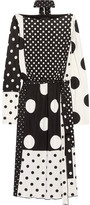 Marc Jacobs Polka-dot Stretch-jersey Dress - Black