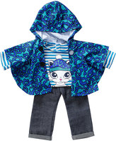 Dollie & Me Blue Animal Print Cape Outfit for 18'' Doll