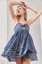Ecote Tiered Halter Babydoll Dress