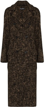 Dolce & Gabbana Double-Breasted Brush-Look Coat